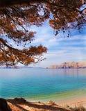 Idyllisch strand stock afbeelding