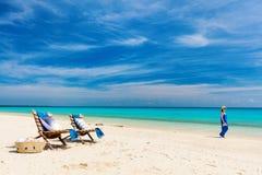 Idyllisch strand in Afrika royalty-vrije stock afbeelding