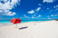Idyllisch strand in de Caraïben Royalty-vrije Stock Fotografie