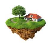 Idyllisch zoet huis vector illustratie