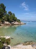 Idyllische Adriatische baai Royalty-vrije Stock Fotografie