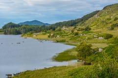 Idyllische Ansicht entlang den Ring von Kerry, Irland stockfotos