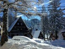 Idyllische de winterscène Stock Afbeeldingen