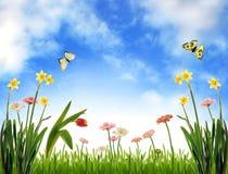 Idyllische Frühlingslandschaft lizenzfreie stockbilder