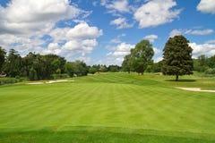 Idyllische golfcursus Royalty-vrije Stock Foto