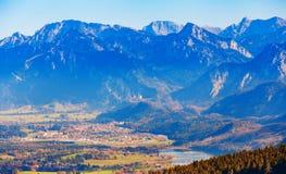 Idyllische Herbstlandschaft in den Alpen Stockfoto