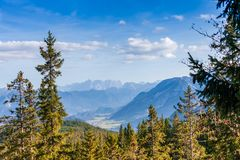Idyllische Herbstlandschaft in den Alpen Stockfotografie