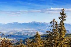 Idyllische Herbstlandschaft in den Alpen Lizenzfreie Stockfotos