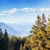 Idyllische Herbstlandschaft in den Alpen Lizenzfreie Stockfotografie