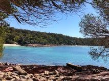 Idyllische kalmte zuidelijke kust NSW Australië Royalty-vrije Stock Foto's