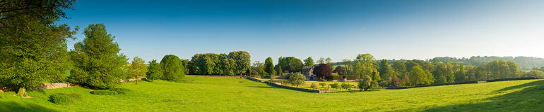 Idyllische landelijke landbouwgrond, Cotswolds het UK Royalty-vrije Stock Afbeelding