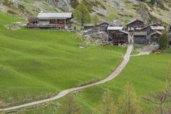 Idyllische Landschaft in der Schweiz stockbild