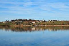 Idyllische Landschaft am See Pfaffikon Lizenzfreies Stockfoto