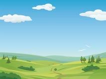 Idyllische Landschaftsillustration Lizenzfreie Stockbilder
