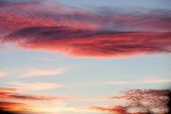 Idyllische rode hemel Royalty-vrije Stock Afbeelding