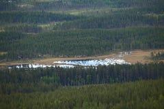 Idyllische Seen in Dalarna, Schweden, gesehen von Gaellkleven Lizenzfreie Stockfotografie