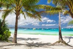 Idyllische tropische scène Royalty-vrije Stock Afbeelding