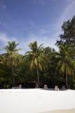 Idyllische vakantie in de Maldiven stock afbeeldingen