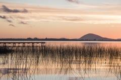 Idyllische Willow Lake, Maldonado-Abteilung von Uruguay Lizenzfreie Stockfotografie