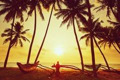 Idyllische zonsondergang stock afbeelding