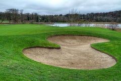 Idyllischer Golfplatz - HDR Stockfoto