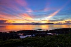 Idyllischer Morgen des Sonnenaufgangs Stockbild