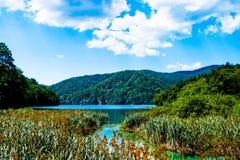 Idyllischer Platz im Nationalpark in Kroatien Lizenzfreies Stockfoto