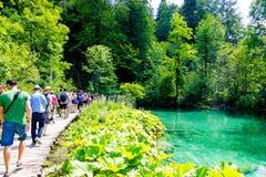 Idyllischer Platz im Nationalpark in Kroatien Stockbilder