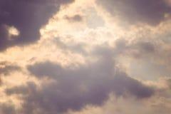 Idyllischer Schuss von Cloudscape Stockfoto