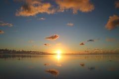 Idyllischer Sonnenuntergang Lizenzfreies Stockfoto