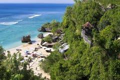 Idyllischer Strand in Bali-Insel Lizenzfreie Stockfotos