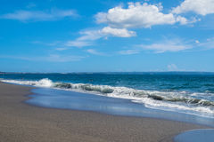 Idyllischer Strand im Paradies Stockfotografie