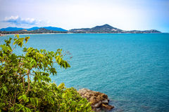 Idyllischer Szenen-Strand in Samui-Insel Lizenzfreies Stockfoto