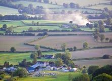 Idyllisches ländliches Ackerland, Cotswolds Großbritannien Lizenzfreie Stockfotografie