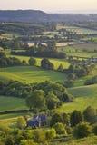 Idyllisches ländliches Ackerland, Cotswolds Großbritannien Stockbilder