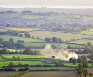 Idyllisches ländliches Ackerland, Cotswolds Großbritannien Stockfoto