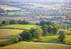 Idyllisches ländliches Ackerland, Cotswolds Großbritannien Lizenzfreies Stockbild