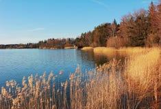 Idyllisches Seeufer seehamer sehen im Herbst Stockfotografie