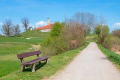 Idyllisk bavaria för landskapreutbergkloster, populär bavarian turist- destination royaltyfria foton