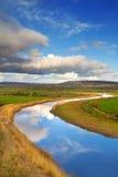 idyllisk flodlandskapshannon Royaltyfri Fotografi