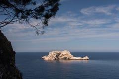 idyllisk seascape Fotografering för Bildbyråer