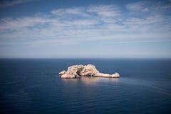 idyllisk seascape Arkivfoton