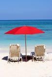 idyllisk strand Royaltyfri Bild