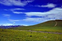 Idylliskt berglandskap, Shar berg arkivbilder