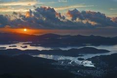 Idylliskt landskap av Hong Kong royaltyfri foto