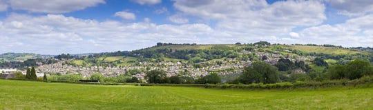 Idylliskt lantligt landskap, Cotswolds UK Arkivbild