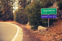 Idyllwild市区范围 免版税库存图片