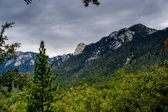Idylwild View. Taquitz and Marion mountains above Idyllwild California Royalty Free Stock Image