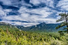 Idylwild View. Taquitz and Marion mountains above Idyllwild California Royalty Free Stock Images