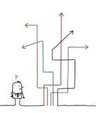 idzie i dokąd ilustracji